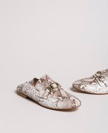 Leather loafers Ice Python Print Woman 191TCP082-01