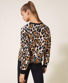 Sweatshirt mit Animalprint Animalier-Print Frau 202LL2ESS-03