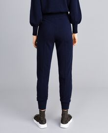 Pantaloni jogging in lana e cashmere Blu Notte Donna TA83AA-03