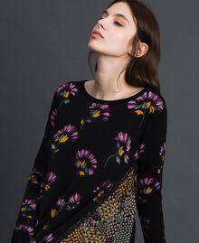 Robe en maille imprimée avec insertions Imprimé Camouflage Femme 192TT3341-04