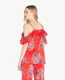 Printed top Red Flower Bouquet Print Woman YS82PK-03