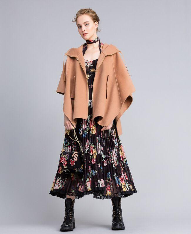 Milano drap doublé Cape en FemmeBeigeTWINSET fY7yvIb6gm