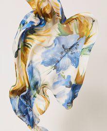 "Floral print kefiah ""Summer Hibiscus"" Blue Print Woman 211MO5365-01"