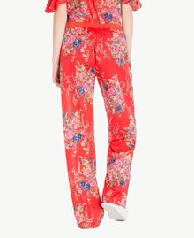 Printed trousers Red Flower Bouquet Print Woman YS82PE-03
