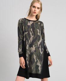 Abito in maglia stampata con inserti Stampa Camouflage Donna 192TT3341-02