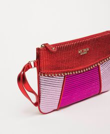 Mehrfarbige Pochette aus Lederimitat Multicolor Rot / Pink / Fuchsia Frau 201MA7025-01