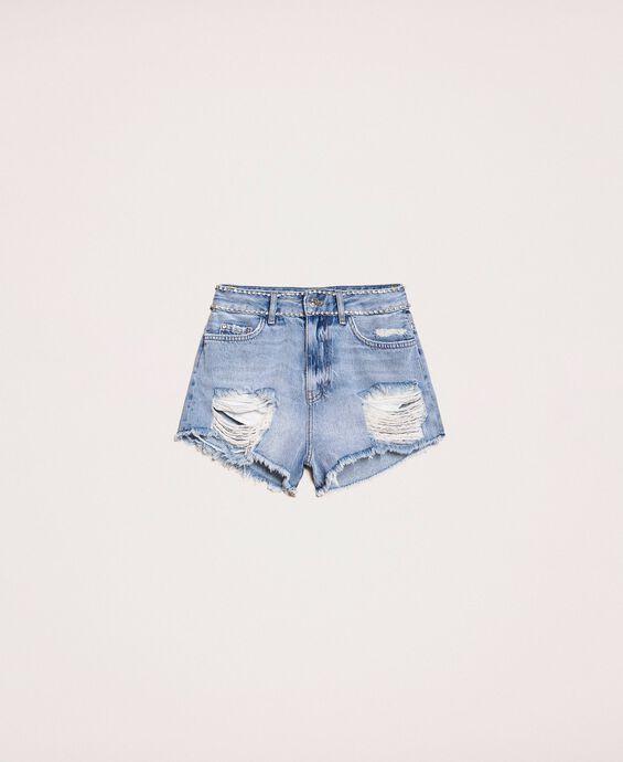 Shorts with rhinestones