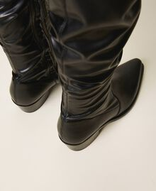 Thigh-high boots with stretch leg Black Woman 202TCP170-03
