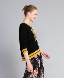 Pull en laine mélangée Noir Femme PA83HR-02