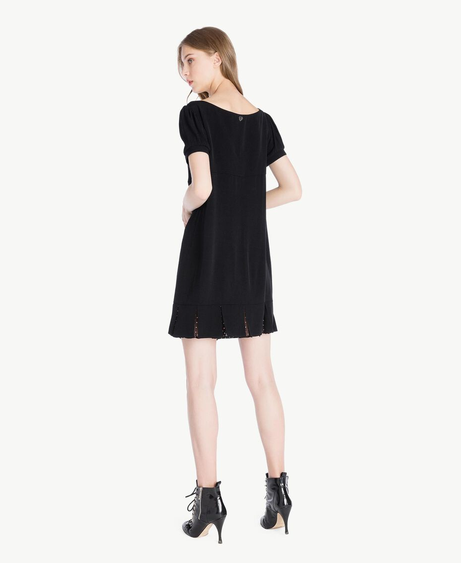 Polka dot dress Black Woman PS82ZA-03