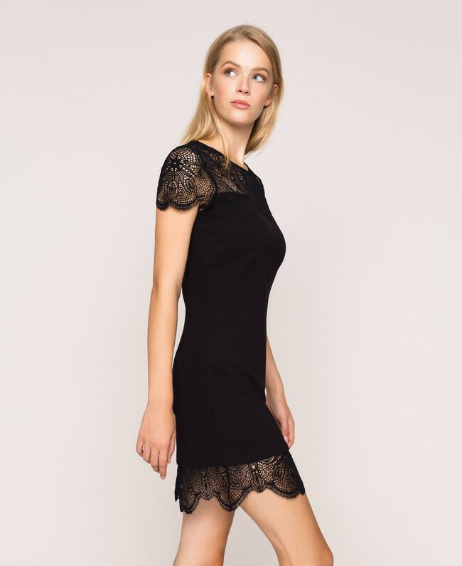 Lace sheath dress Black Woman 201TP212A-03