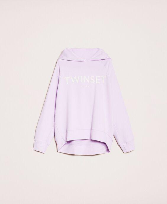 Maxisweatshirt mit Sticklogo