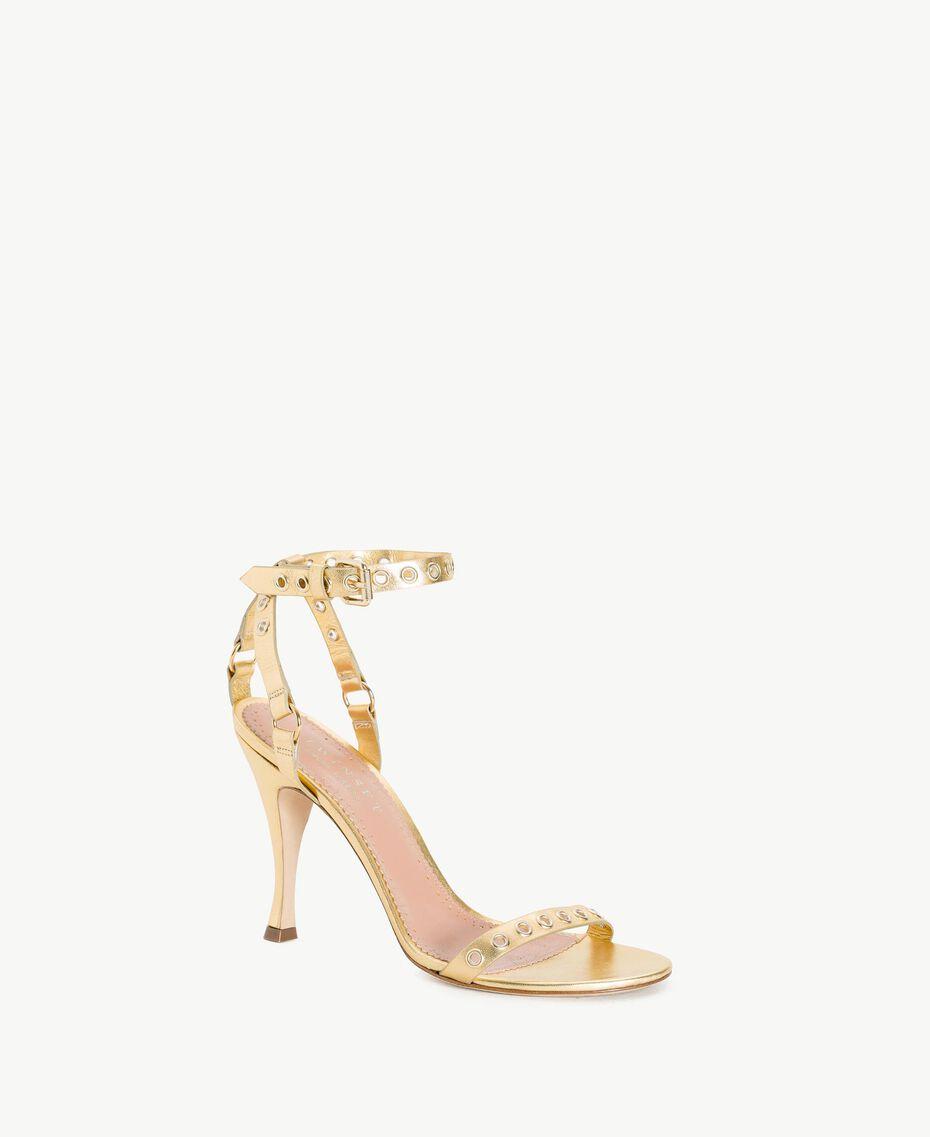 TWINSET Laminated sandals Platinum Woman CS8TAE-02
