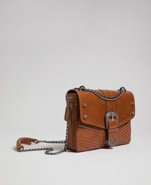 Large Rebel leather shoulder bag Leather Brown Woman 192TO823E-01