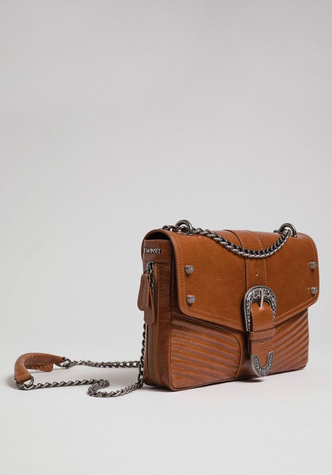 Large Rebel leather shoulder bag