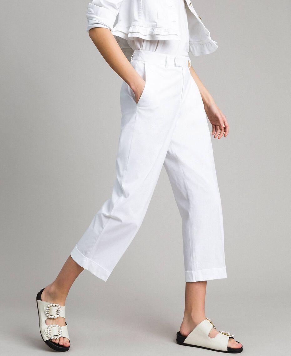 Poplin trousers White Woman 191TT2232-01