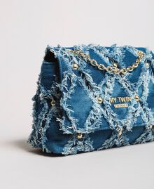 "Umhängetasche aus Jeans im Patchwork-Look ""Arabian Blue"" Blau Frau 191MA7083-02"
