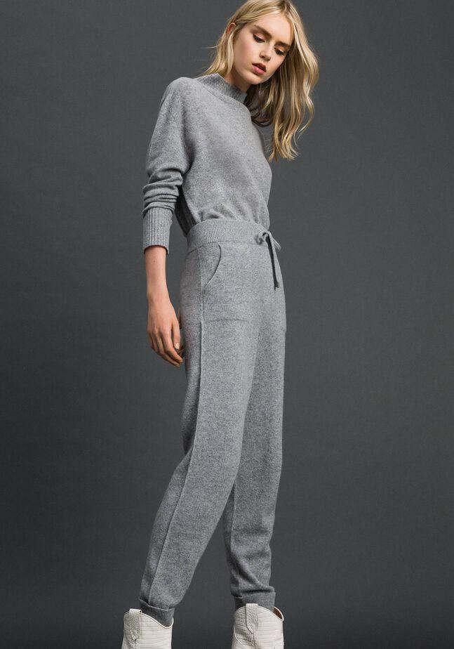Pantalon de jogging en laine et cachemire