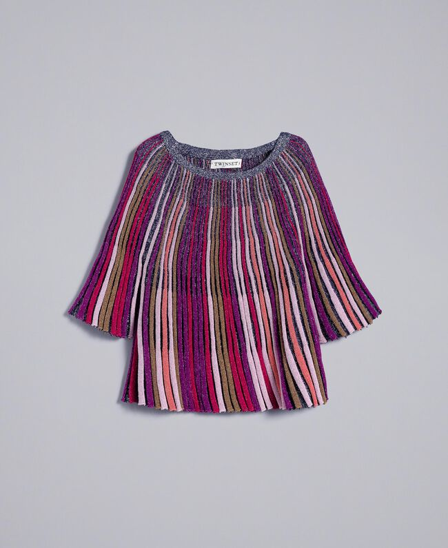 Pull en lurex multicolore Multicolore Lurex Enfant GA83KN-01
