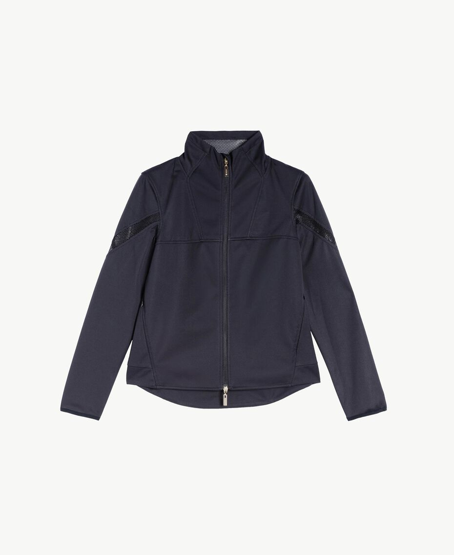 Jacke mit Netzstoff Weiß Frau LS83CC-01
