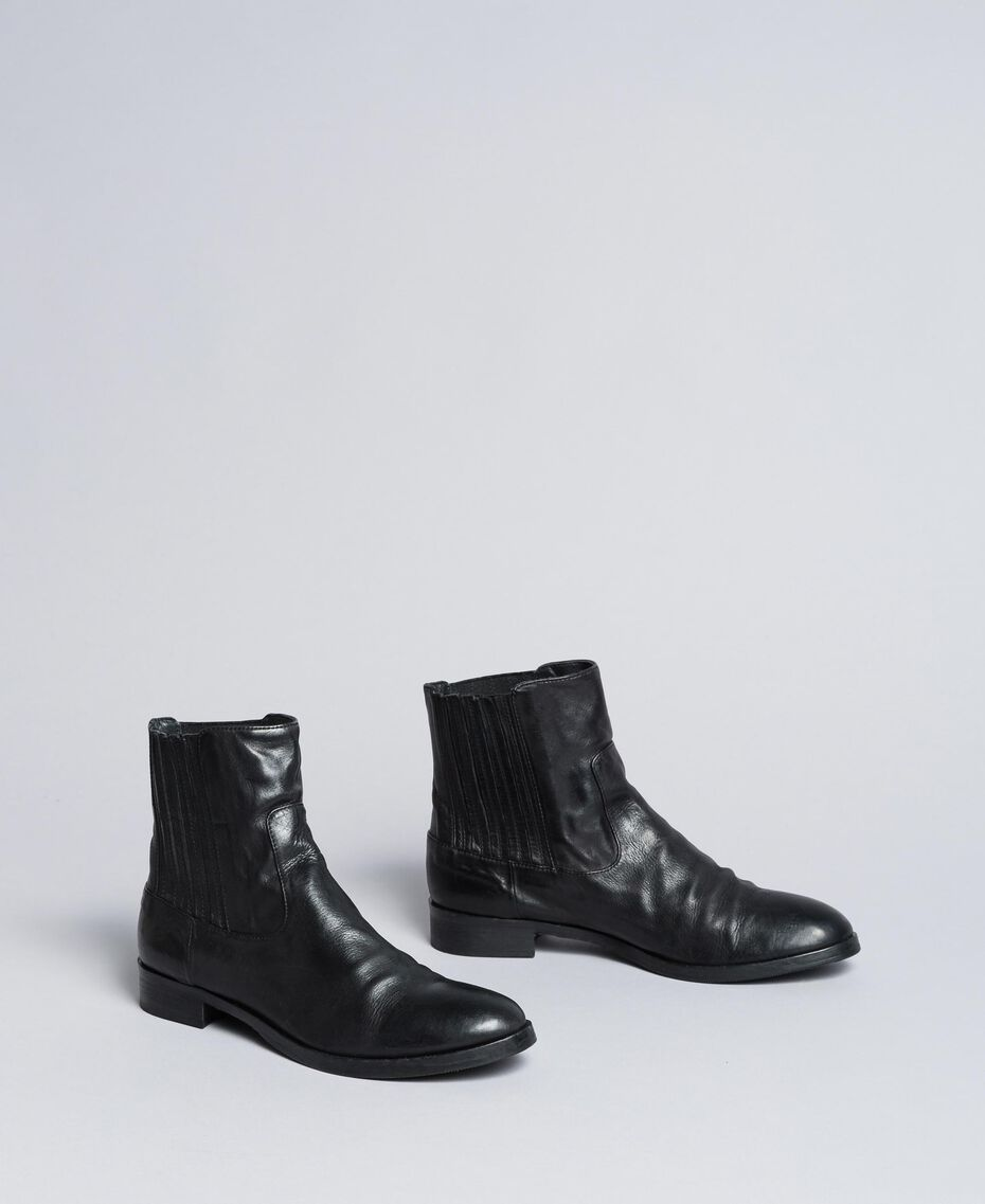 Leather beatles Black Woman CA8TKA-02