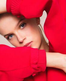 Blouse en crêpe georgette plissé Griotte Femme 201TP2023-04