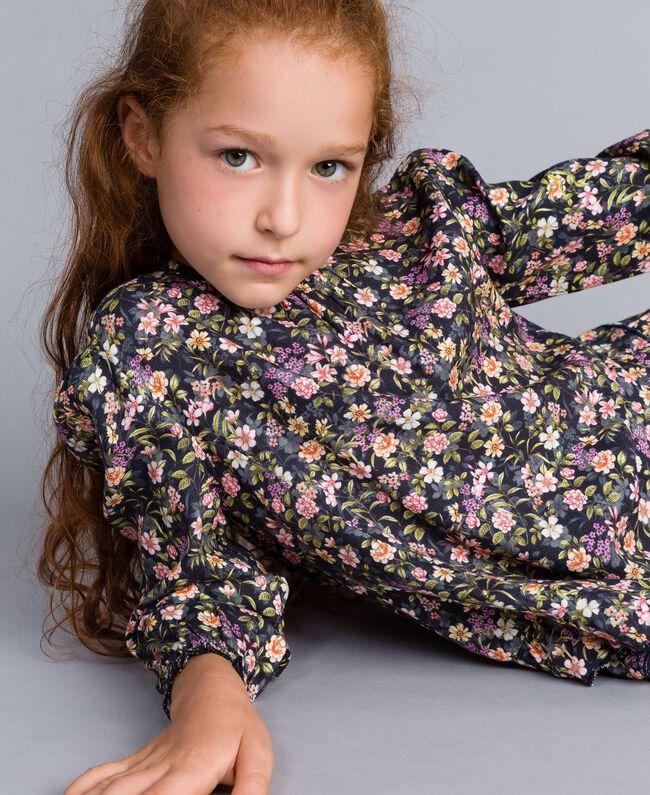 Printed viscose dress Micro Flower Print Child GA82TC-04