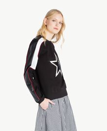 Stars sweatshirt Multicolour Black / Raspberry Red / Optical White Woman JS82FC-02