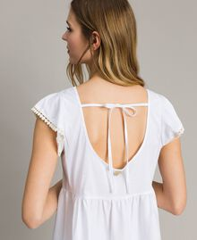 Robe en popeline Blanc Femme 191LB2JFF-03
