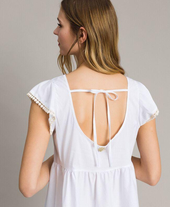 Poplin dress White Woman 191LB2JFF-03