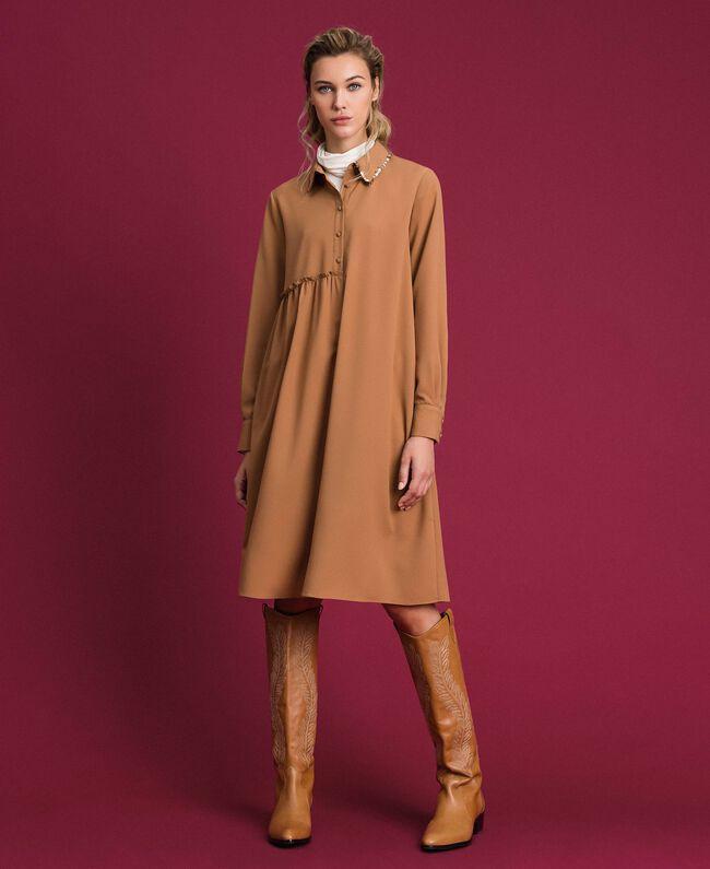 "Sequin shirt dress ""Sequoia"" Beige Woman 192ST209C-0T"