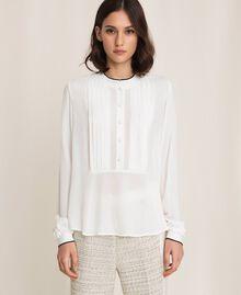 Crêpe de Chine shirt Ivory Woman 201TP2392-01