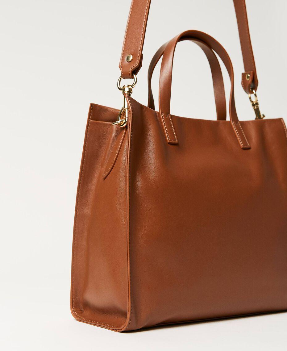 Twinset Bag im Shopperformat aus Leder Leder Frau 211TD8041-03