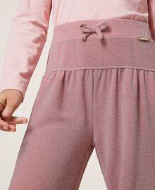 Weite Hose aus Lurex Lurex Matt Pink Kind 202GJ2110-04