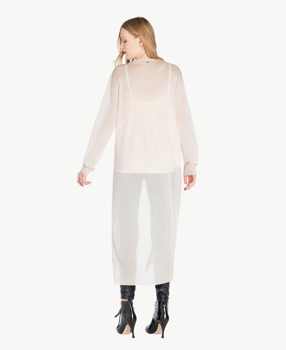 Long lurex cardigan Platinum Lurex Woman PS83ZD-03