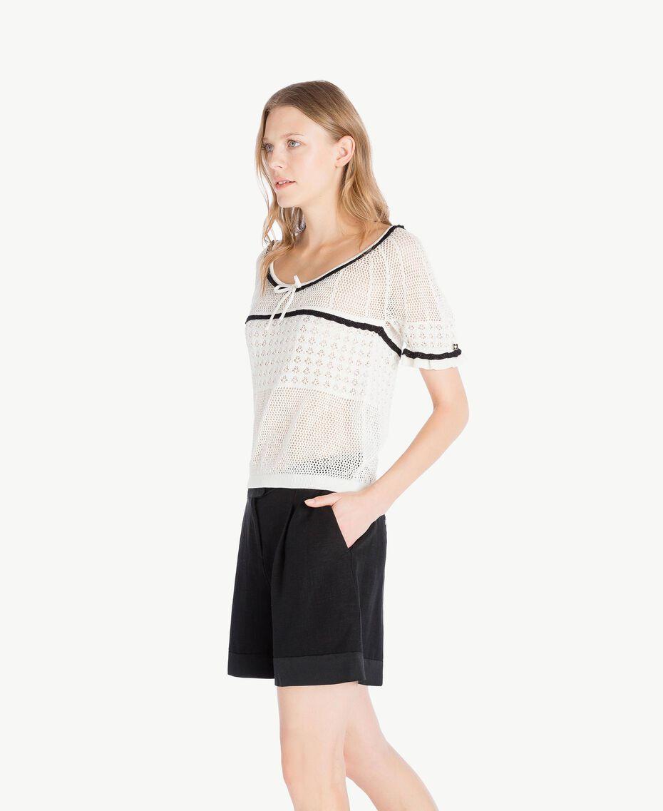 Top coton Nacre Femme TS83AP-02