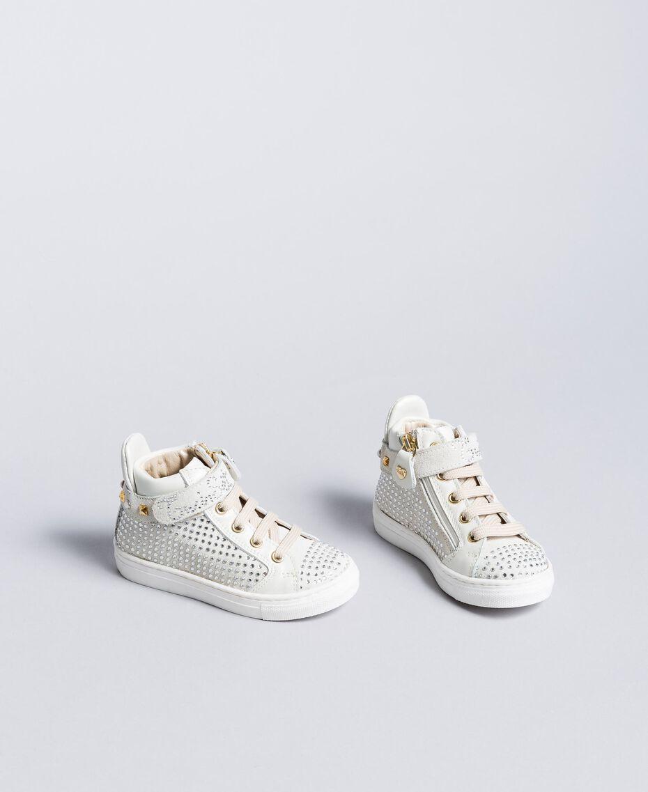 Baskets en cuir et strass Off White Enfant HA88DA-02