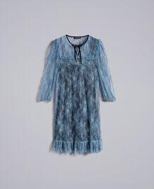 Robe en dentelle de Valenciennes Bleue poudre Femme PA82F1-0S