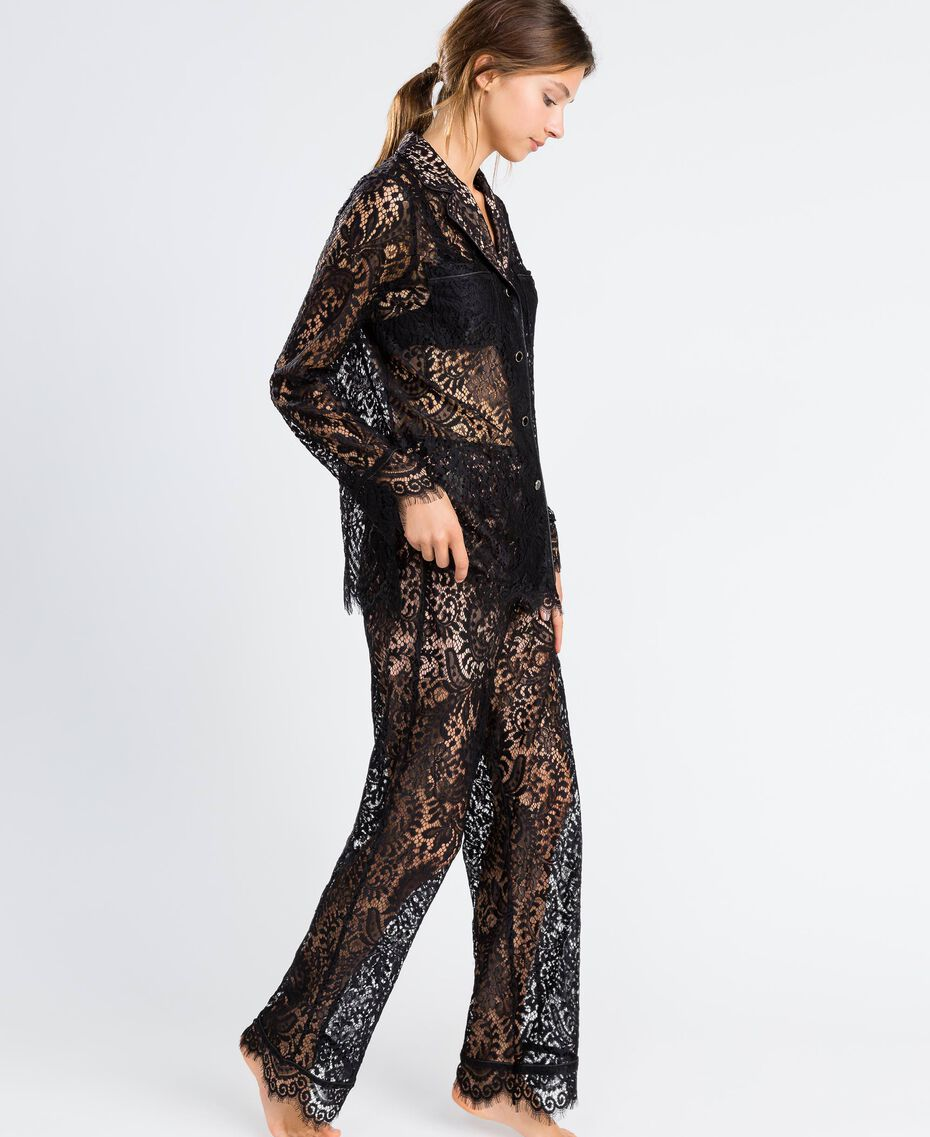 Scalloped lace trousers Black Woman IA8CRR-02
