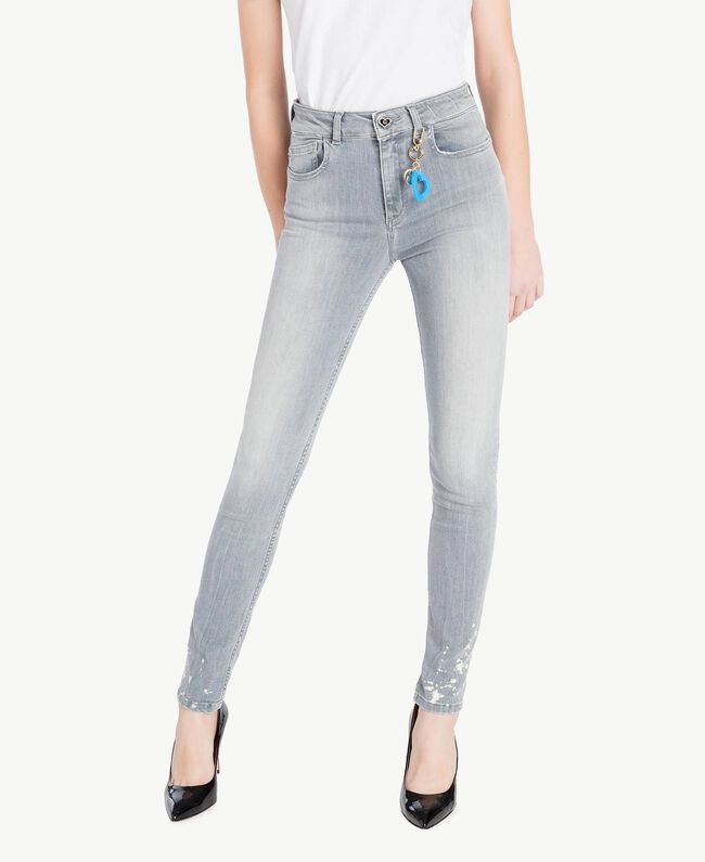Skinny-Jeans Denim-Grau Frau JS82Y1-01