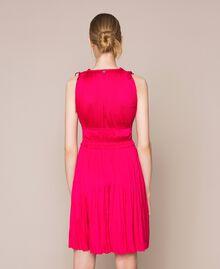 Pleated satin dress Wild Rose Woman 201MT2141-03