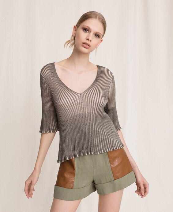 Lurex yarn jumper