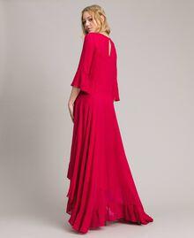 """Robe longue de georgette Fuchsia """"Anémone"""" Femme 191TP2123-03"""