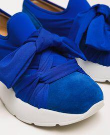 """Textilsneakers mit Knoten """"Hyazinthen""""-Blau Frau 201TCT110-04"""