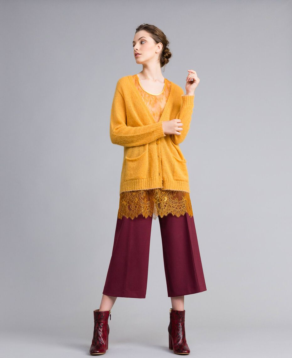Cardigan in mohair con top in pizzo Brandy Donna PA836D-0T