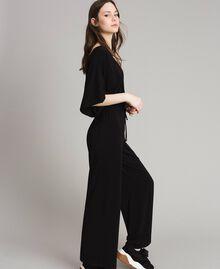Combinaison avec pantalon palazzo Noir Femme 191LB22DD-03
