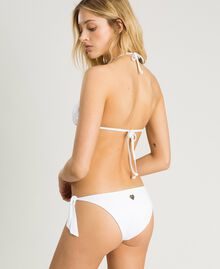 Thong with broderie anglaise embroidery White Woman 191LBME88-03