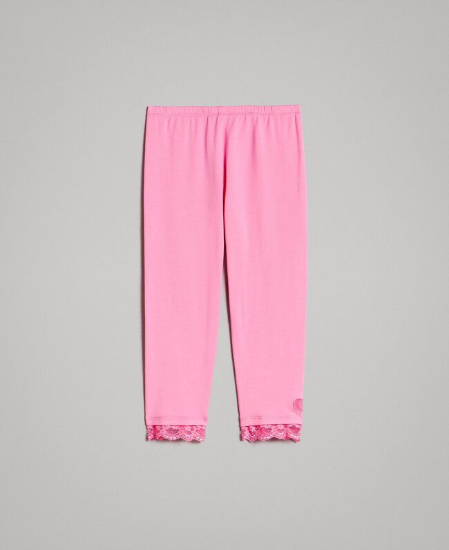 "Jersey leggings with lace ""Crystal Pink"" Child 191GJ2183-01"