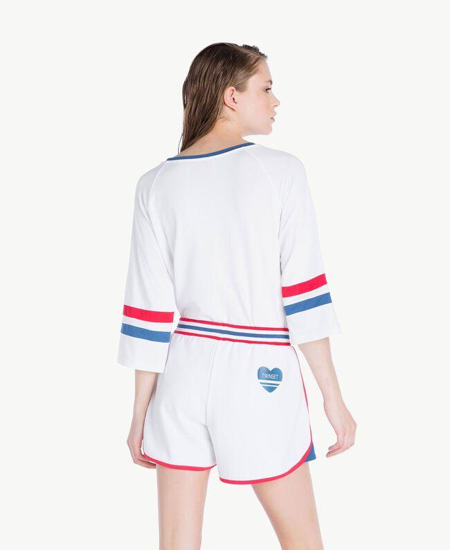 Short asymétrique Blanc Femme LS82FF-04
