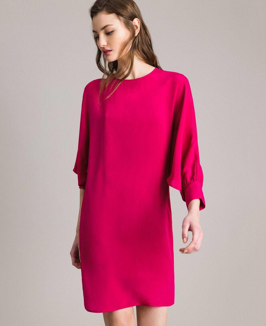"Silk blend tunic dress ""Anemone"" Fuchsia Woman 191TP2147-05"